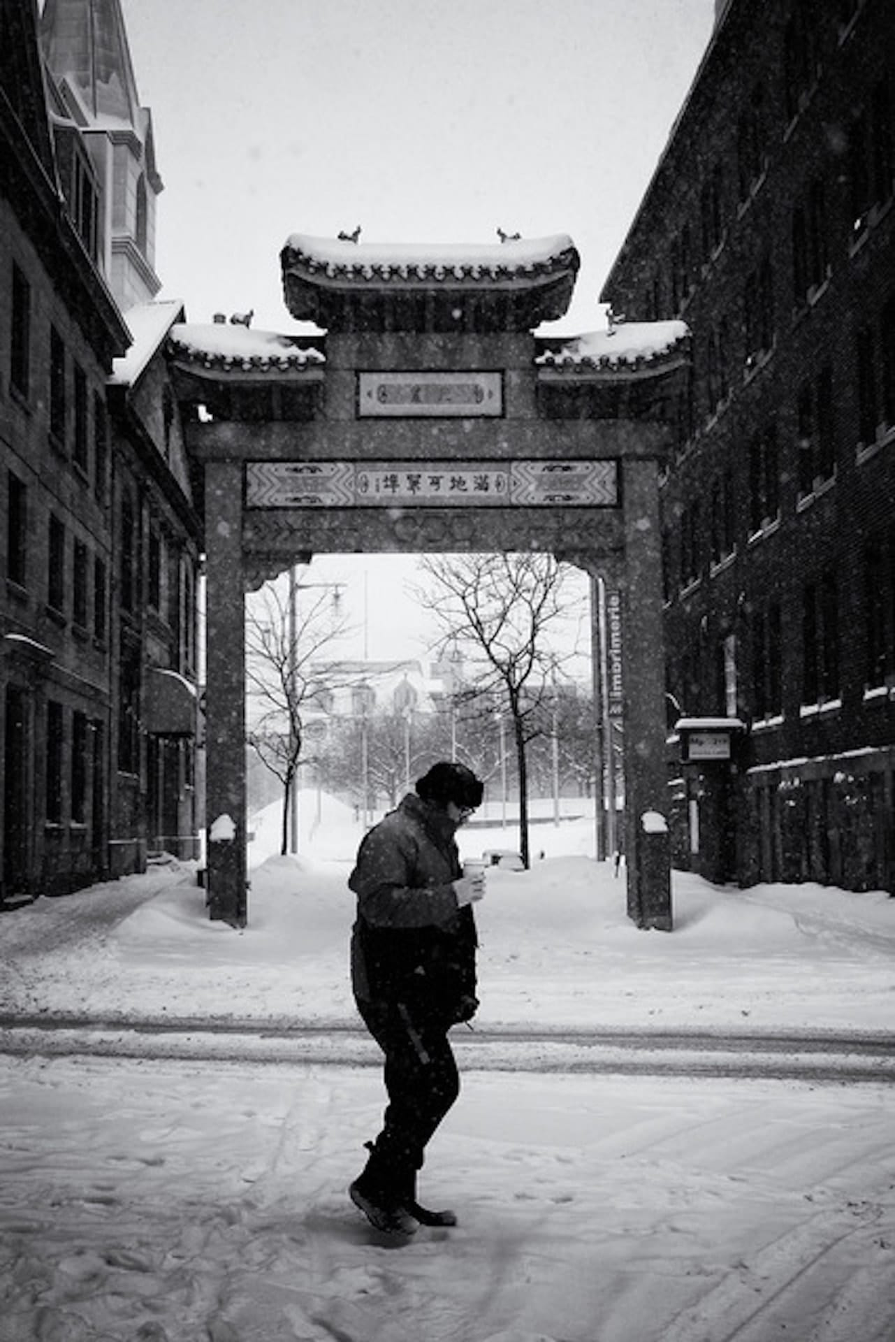 """Snowy day"" Street Photograph by Jeff Stephens"