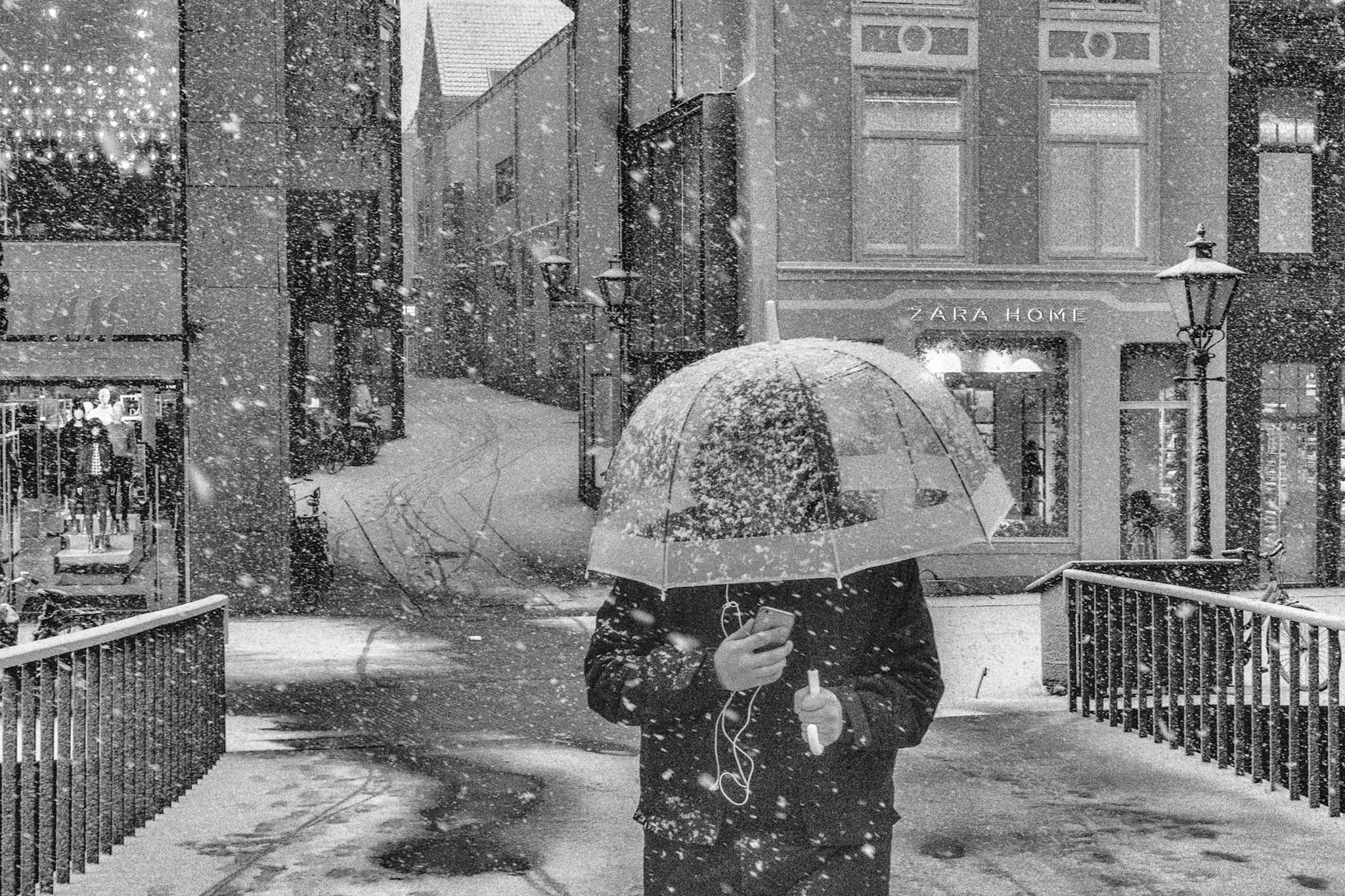 """Snowy day"" Street Photograph by Michiel Gransjean"