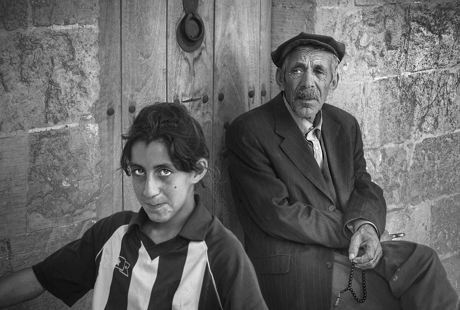 """Old & Young"" Street Photograph by Haluk Gerçek"