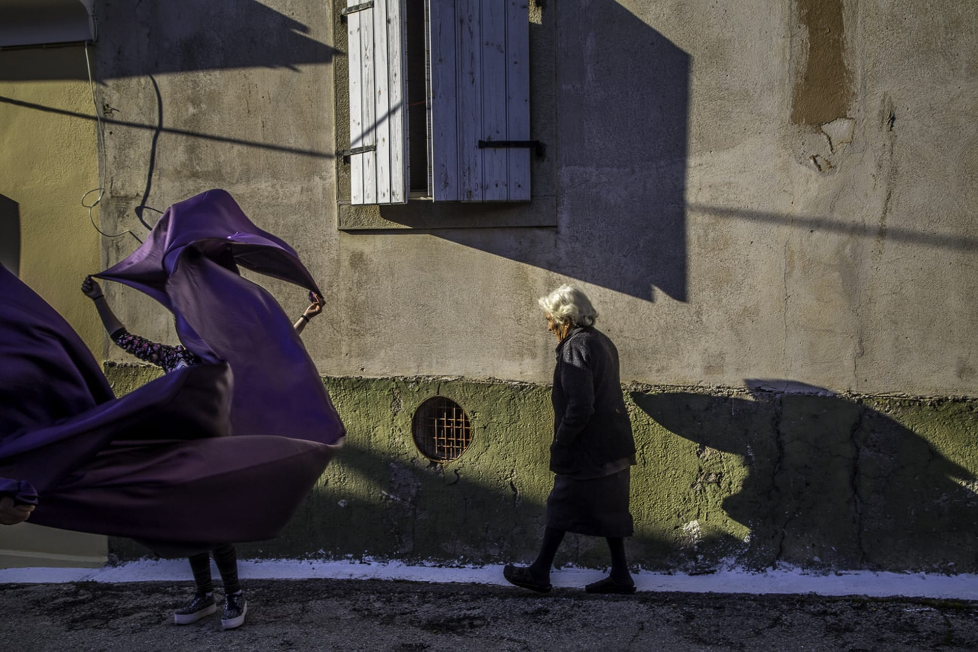 """Old & Young"" Street Photograph by Markos Kyprianos"