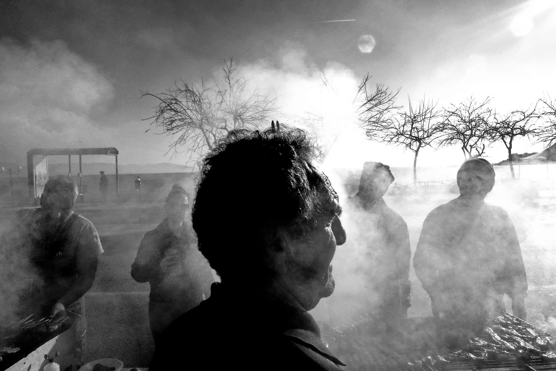 """Layers"" Street Photograph by Makis Makris"
