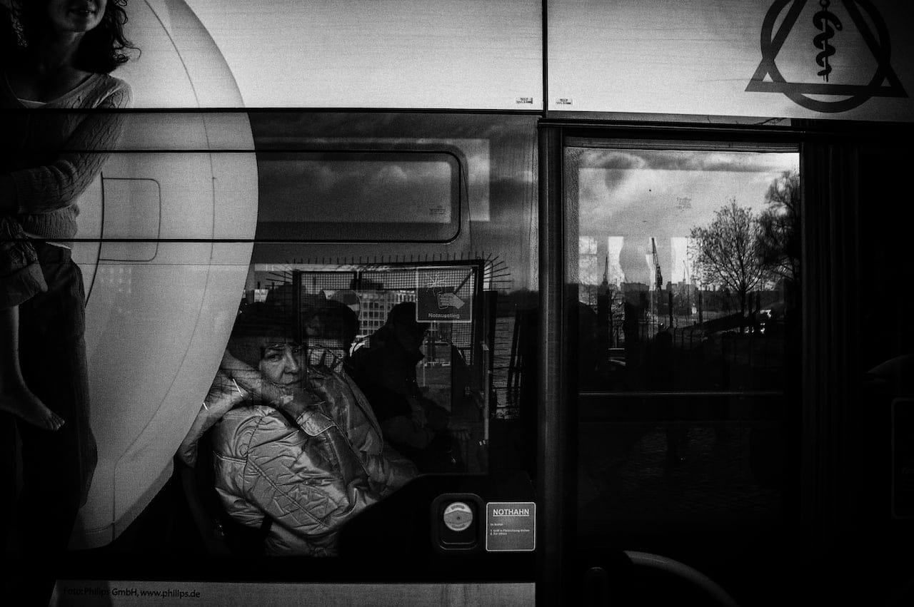 Hamburg bus window