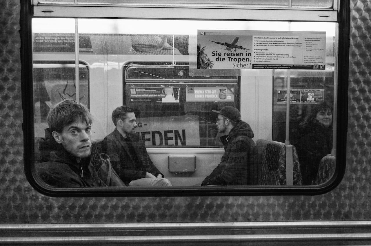 Hamburg through the train window