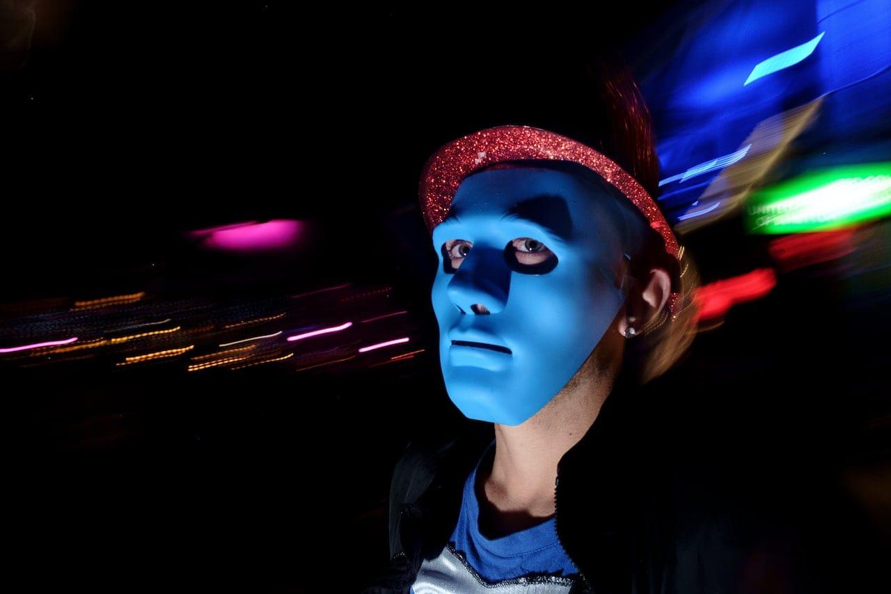 Rethymno - Blue man