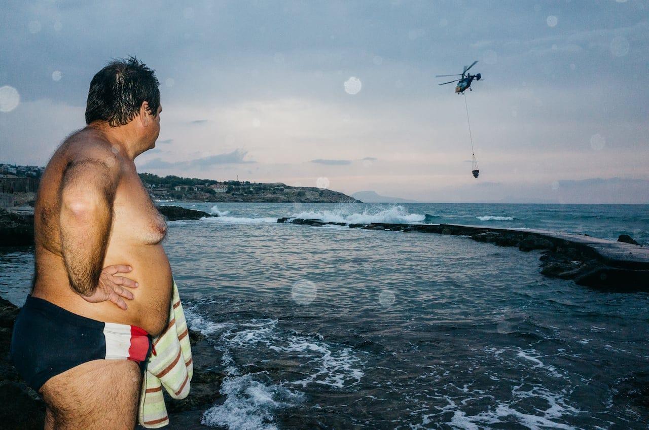 Rethymno - Speedos and chopper