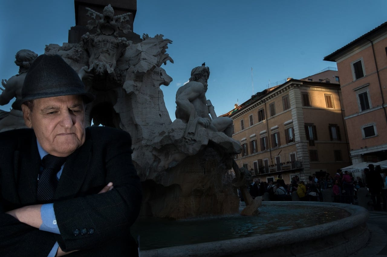 Rome - Man at fountain