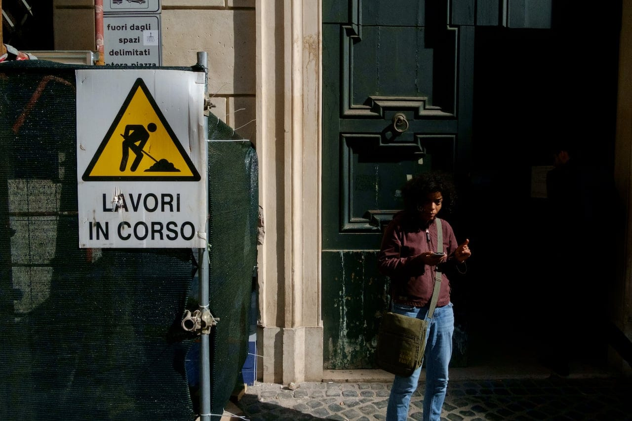 Rome - road works