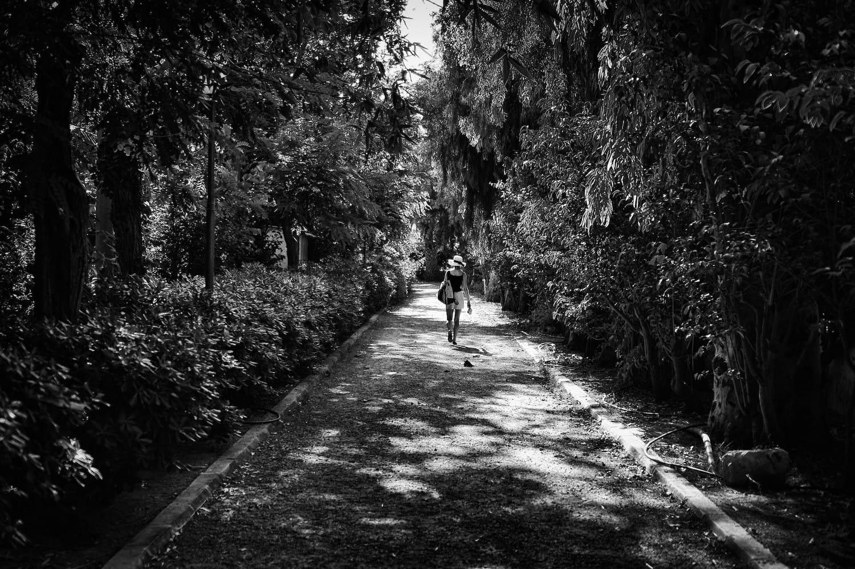 Walking in Rethymno park