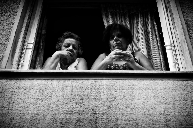 2 ladies at the window
