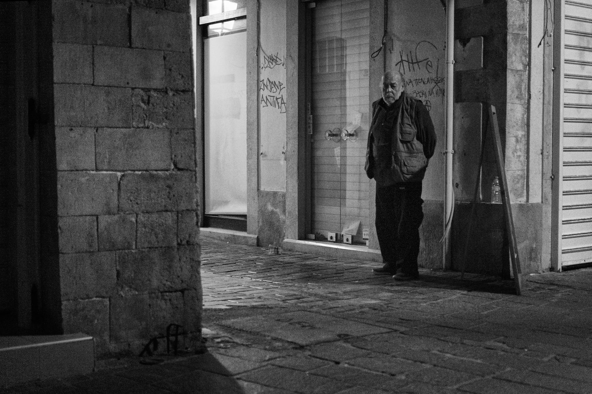 Old man in the night