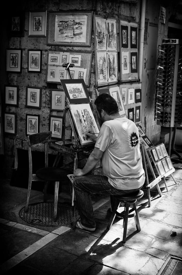 the-artist-bw