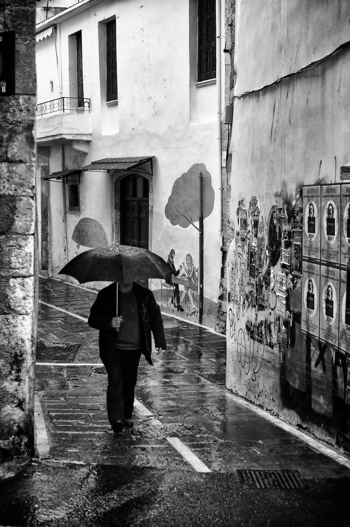 Rainy day in Rethymno