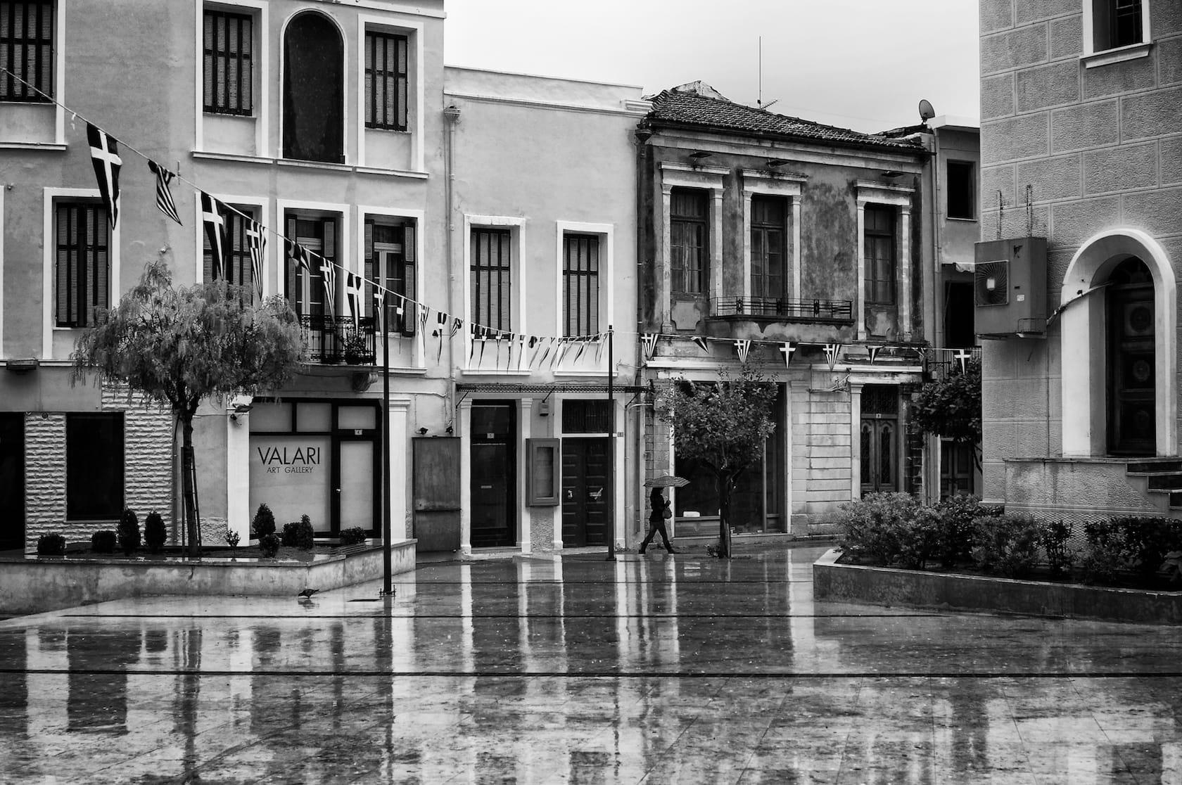 A rainy day in Rethymno