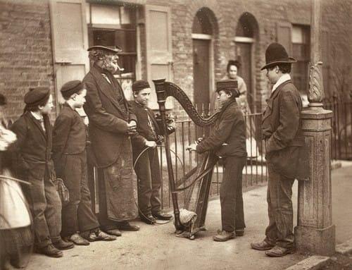 Italian Street Musicians - 1877 - Street Life in London