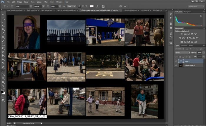 How to file for easy retrieval in Photoshop