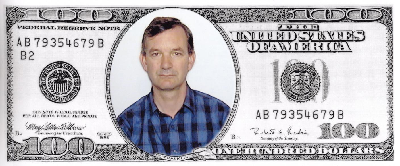 Martin Parr selfie dollar