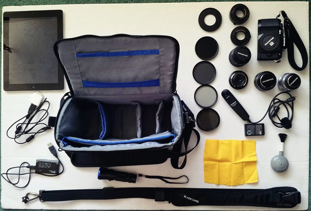 Inside Stuart Liddle's Camera Bag