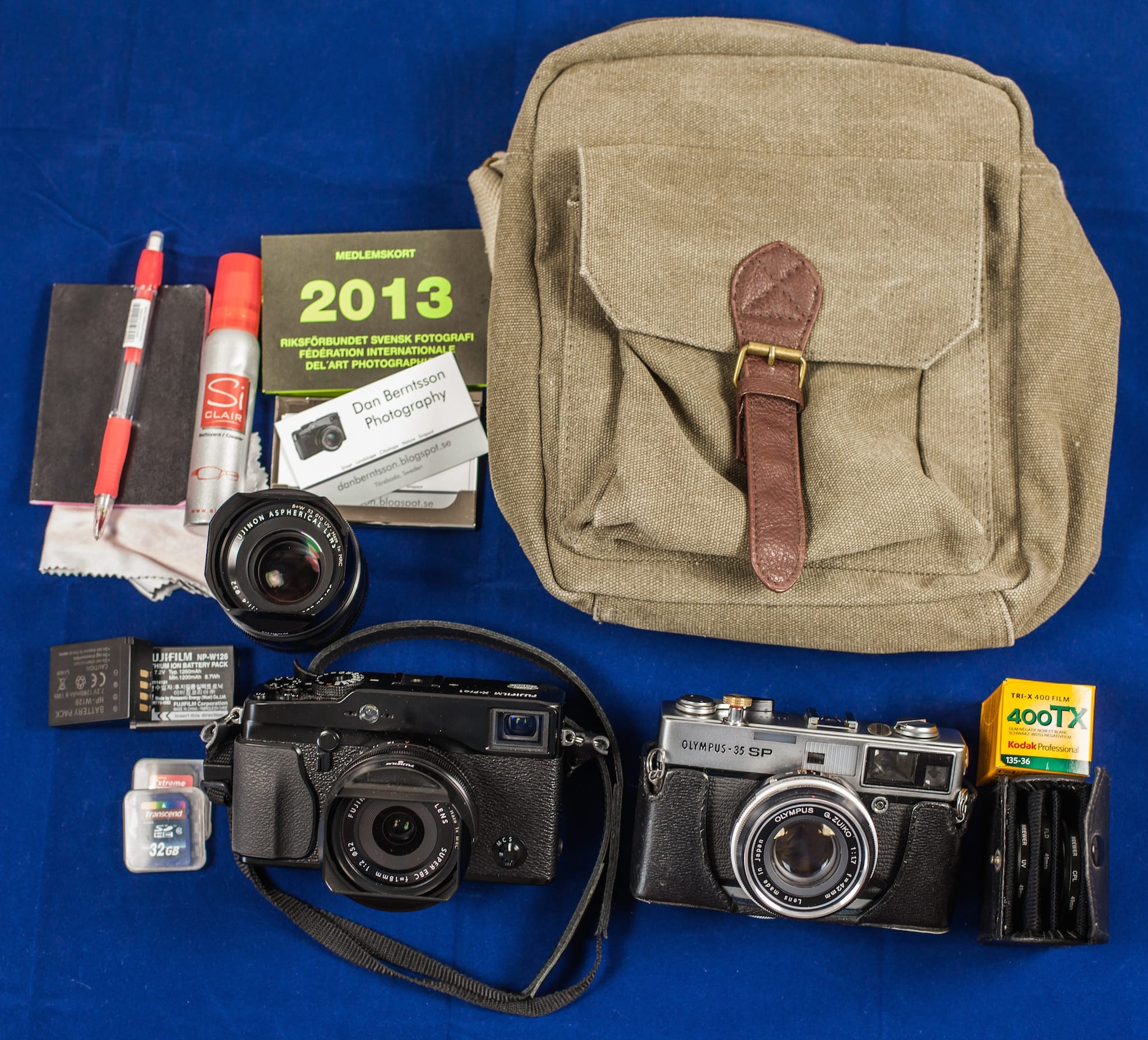 Dan Berntsson's Camera Bag