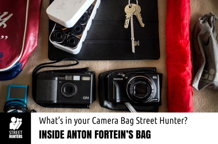 Anton Fortein's camera bag