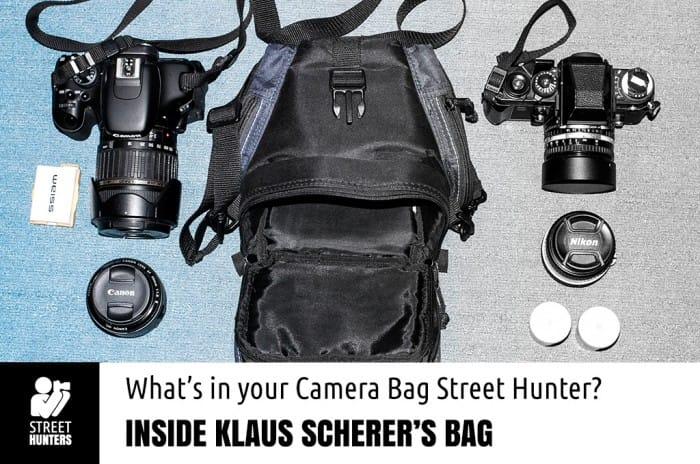Klaus Scherer's camera bag