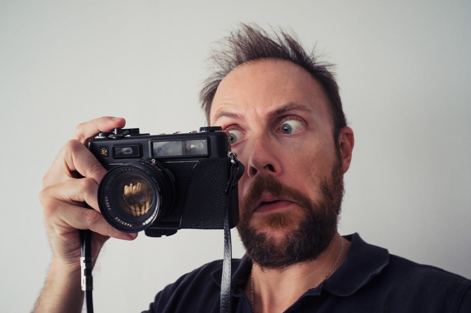 Checking into the camera viewfinder when using One Camera & One Lens for Street Photography