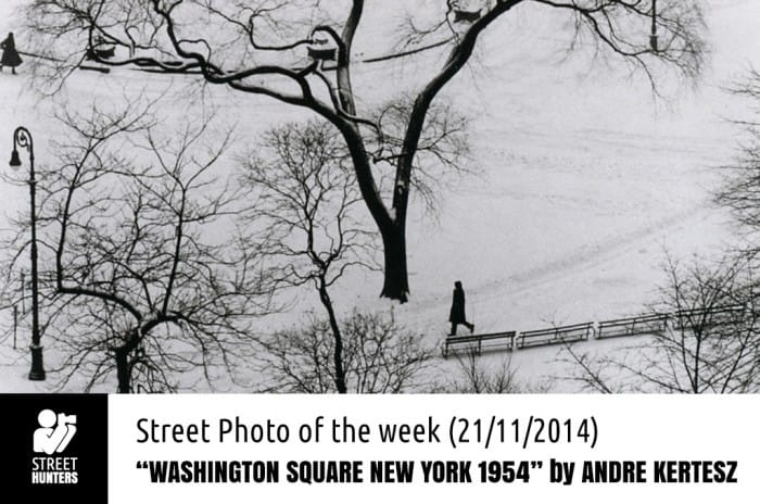 Washington Square New York 1954 by Andre Kertesz promo