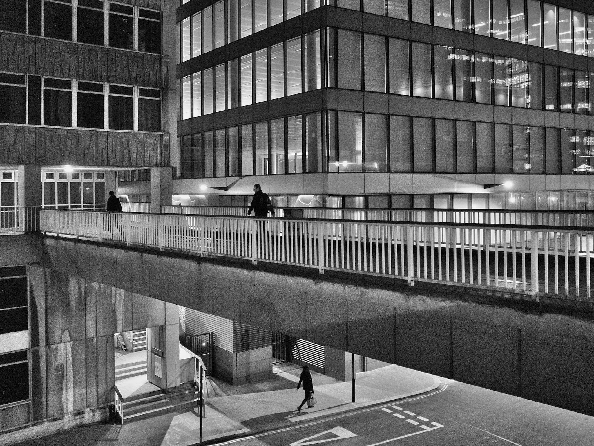 Above and Below by Bill Wellham.  Shot in City of London,  November 2014.