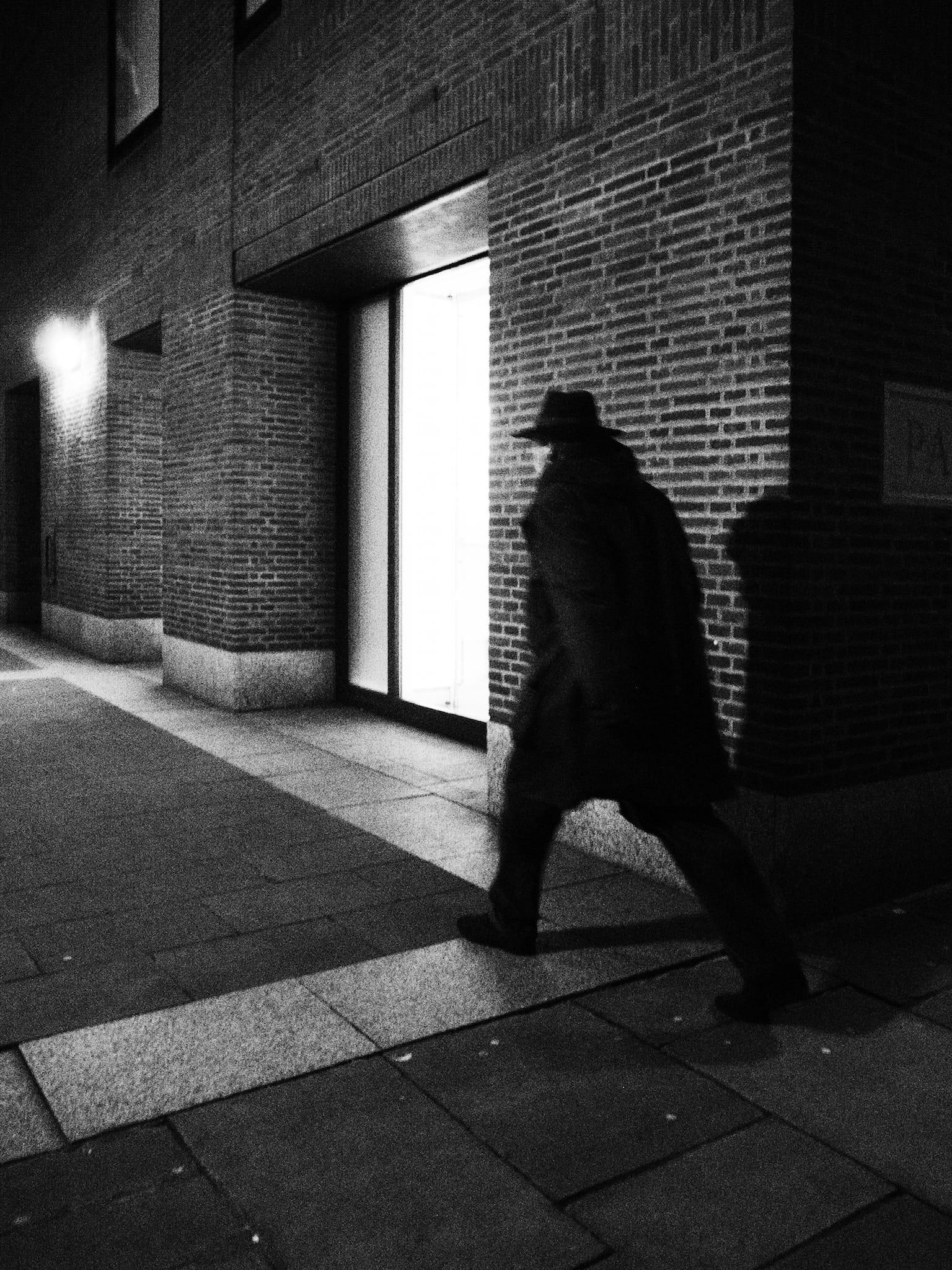 City Noir by Bill Wellham.  Shot in City of London,  November 2012