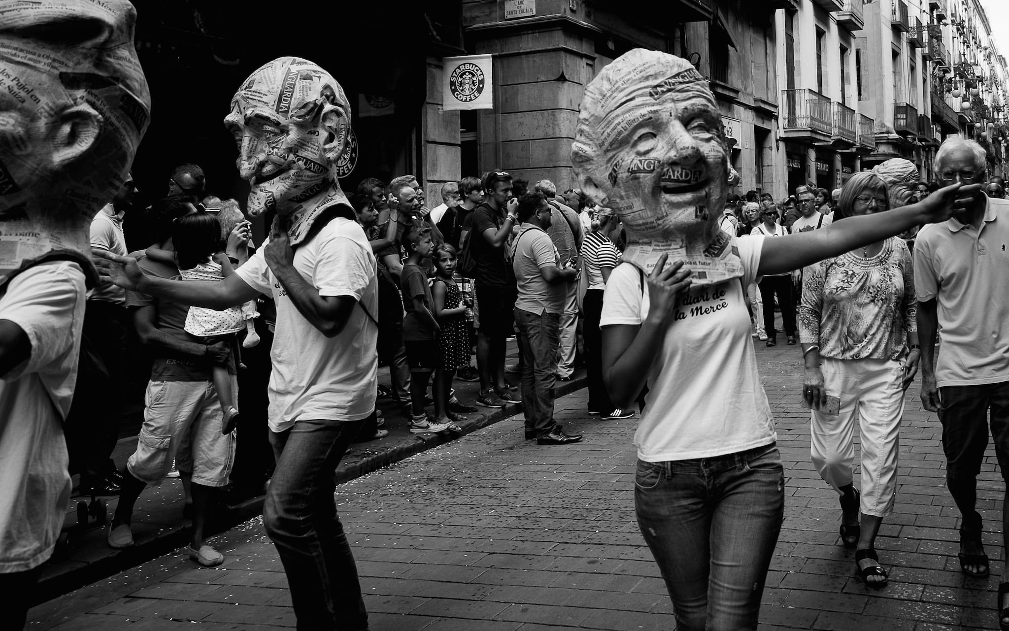 """Capgrossos"" (""Traditional Catalan 'Big heads' figures"")  by Jordi Mallol i Comas Shot in Barcelona, Catalonia, Spain the 24th September 2014"