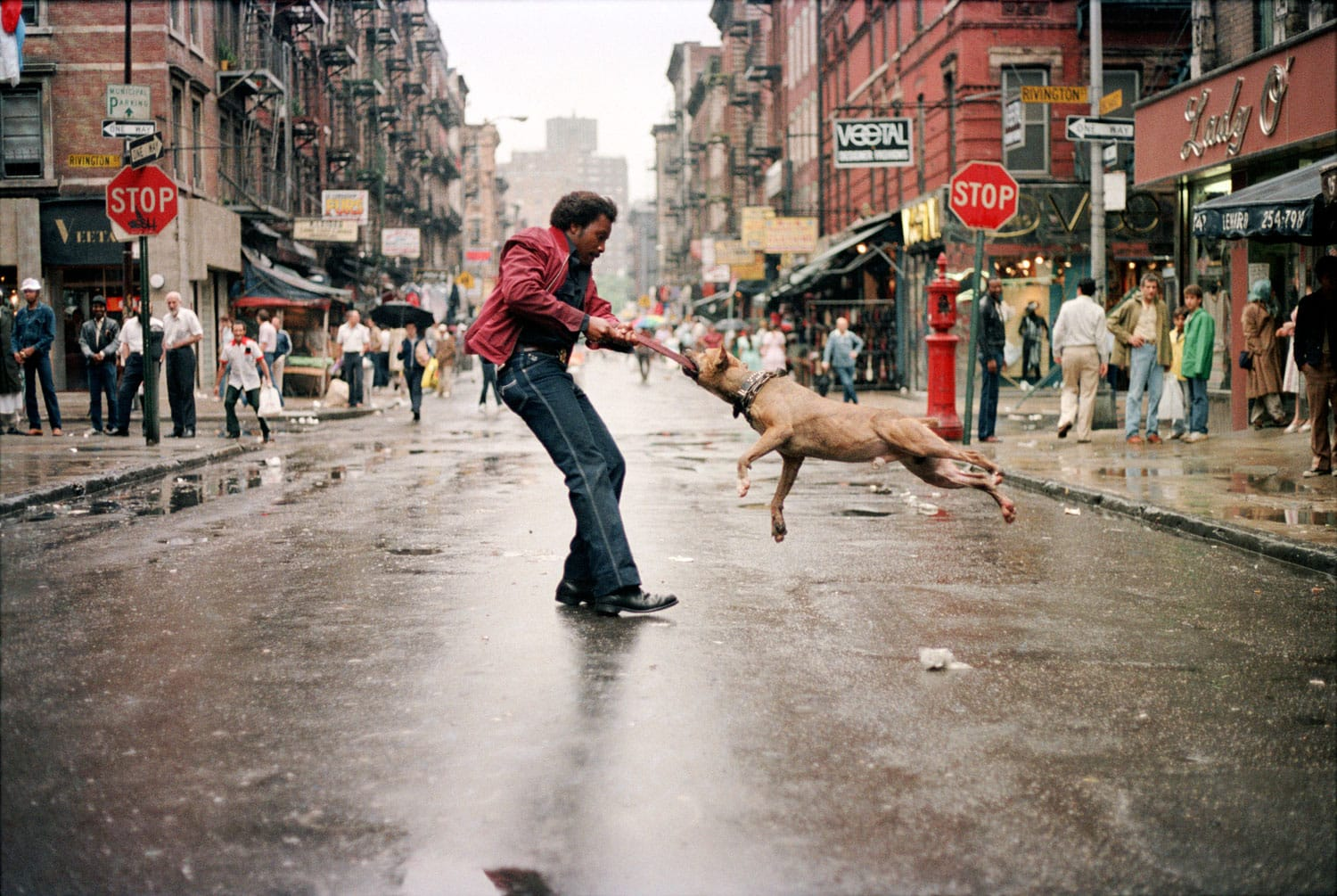 """Man And Dog 1980"" by Jamel Shabazz"