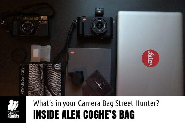 Inside Alex Coghe's camera bag