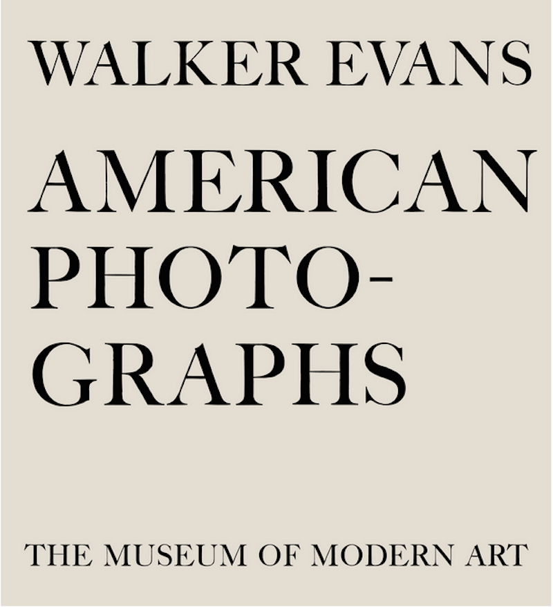 American Photographs by Walker Evans original book cover