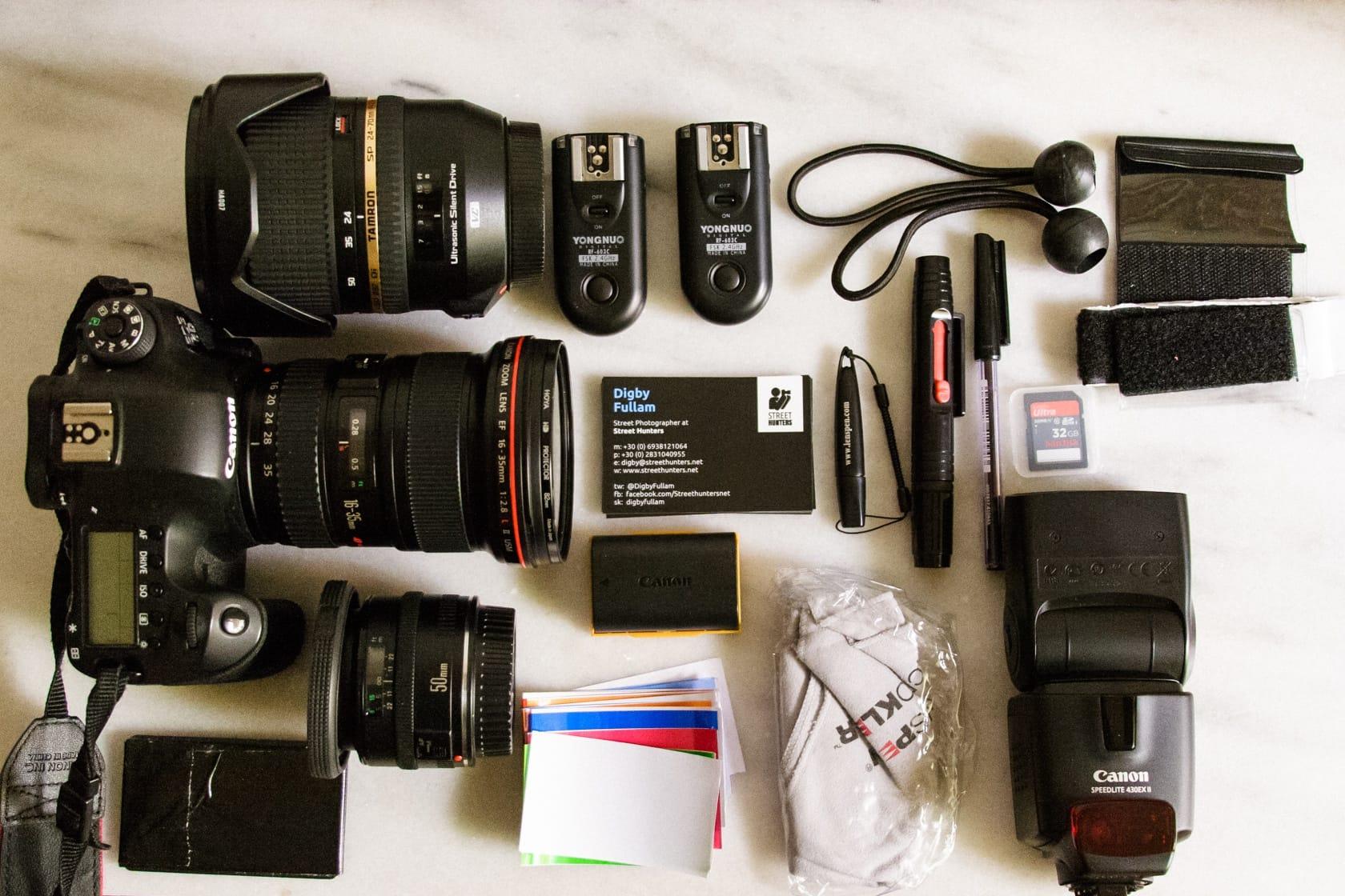Digby Fullam's Camera Bag