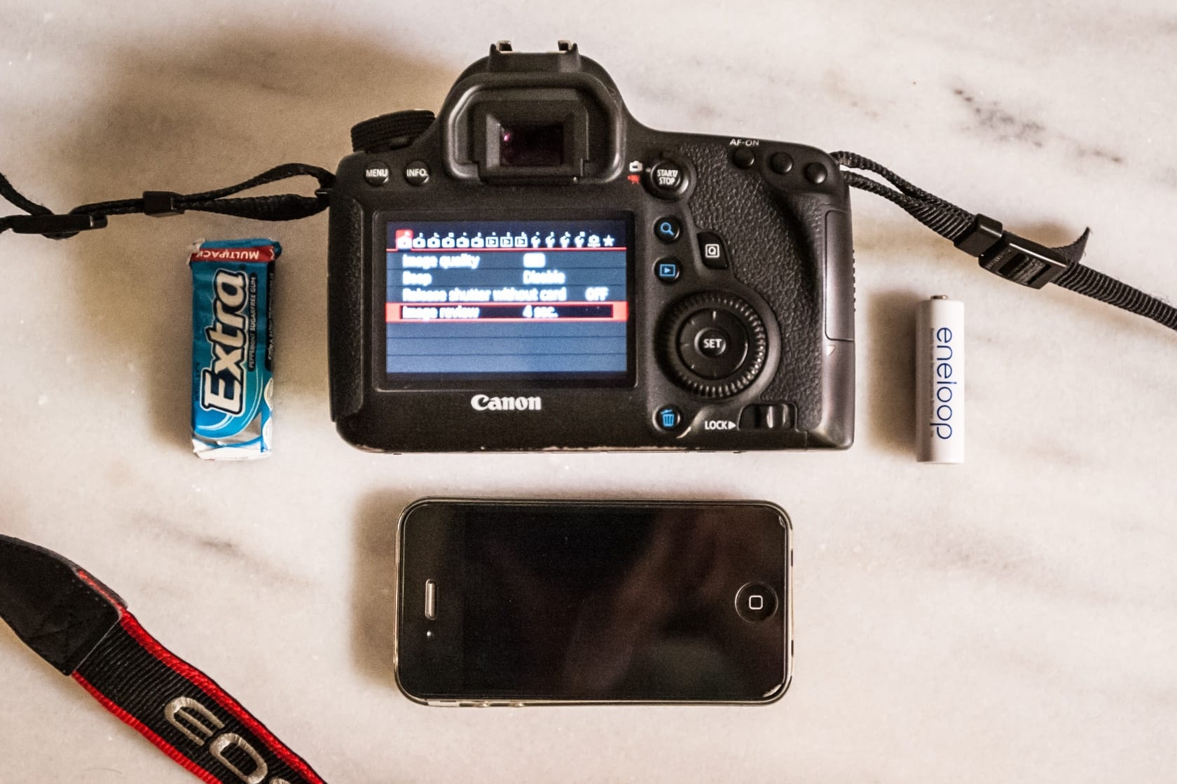 The Canon 6D compared to other objects