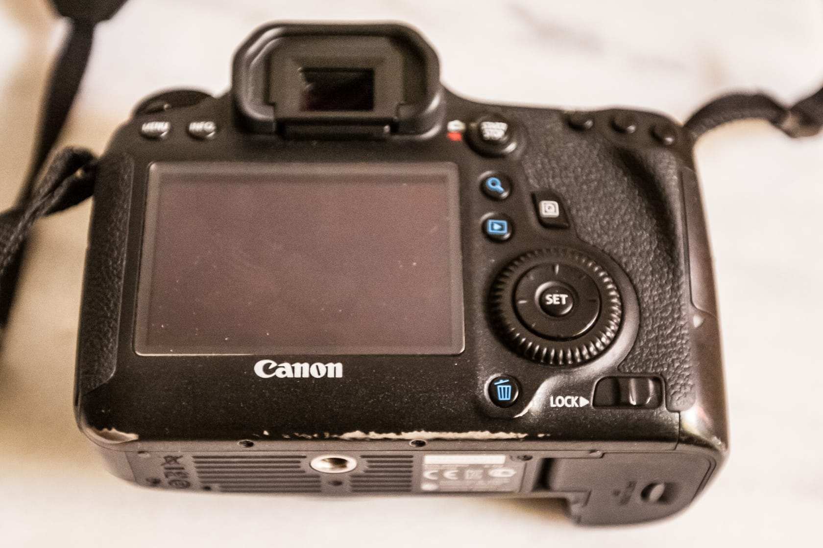 Back of the Canon 6D
