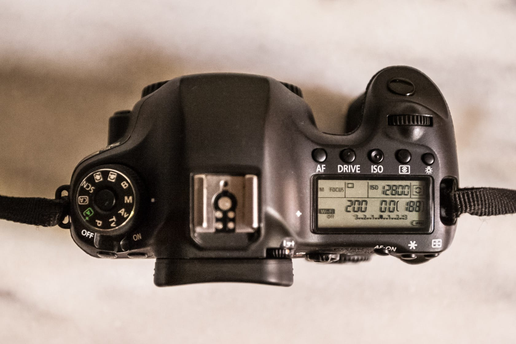 Top of the Canon 6D