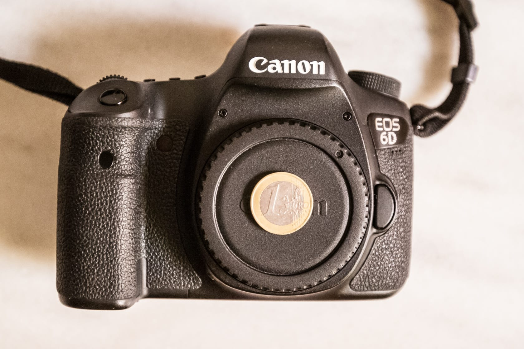 Front of the Canon 6D
