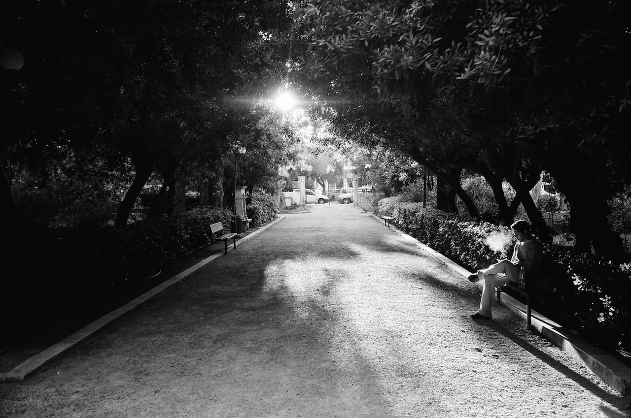 """A smoke in the park"" by Spyros Papaspyropoulos"