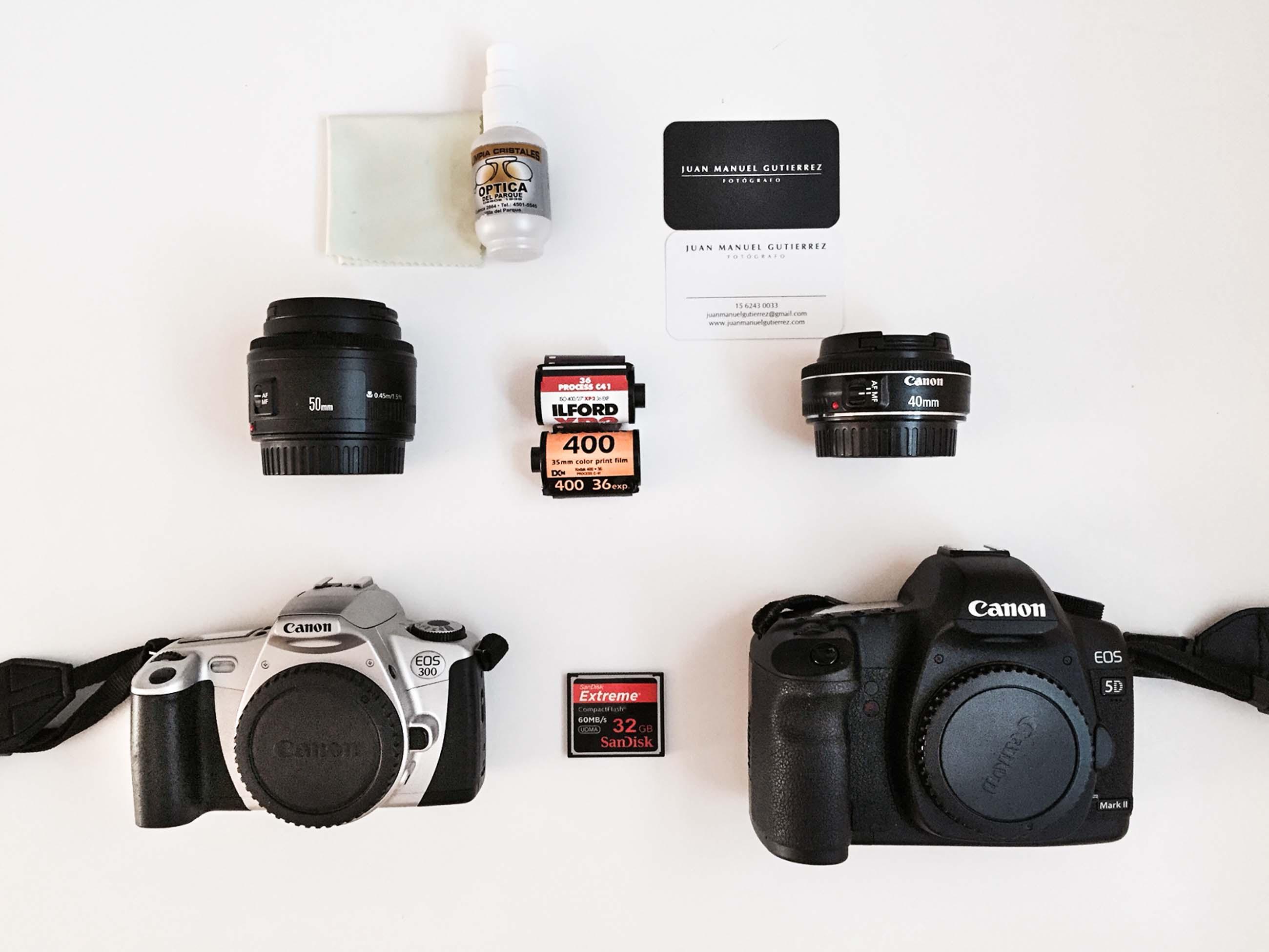 Inside Juan Manuel Gutiérrez's Camera Bag