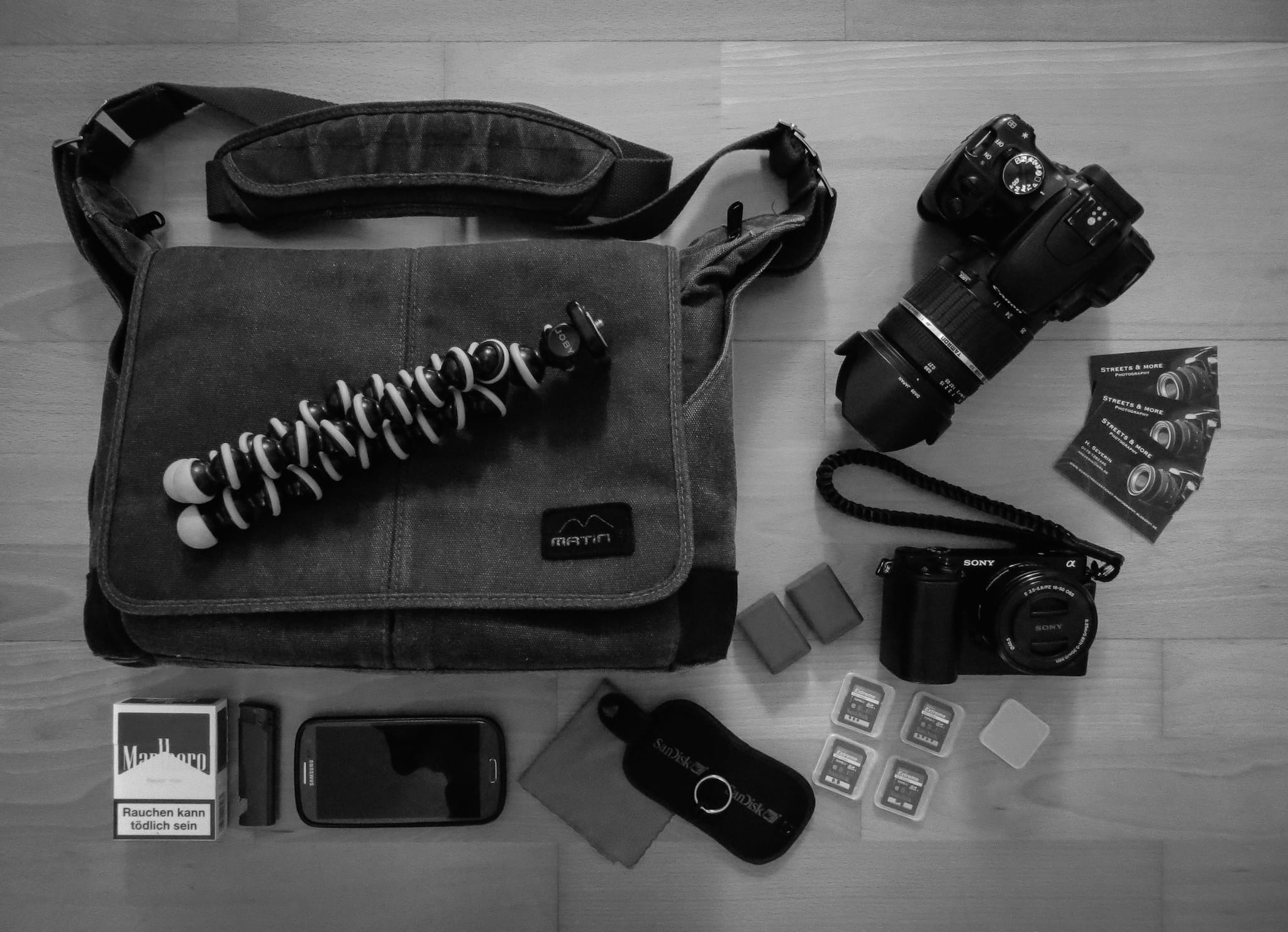 Hans Severin's Camera Bag