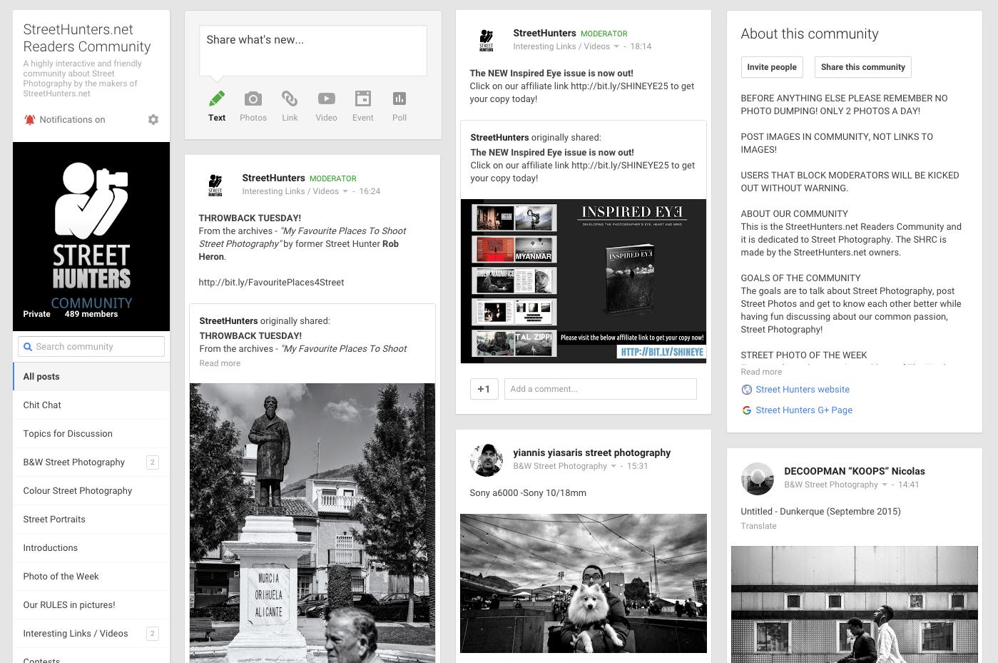 Street Hunters GooglePlus Community