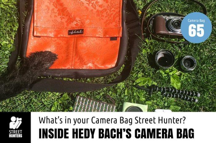 Inside Hedy Bach's camera bag