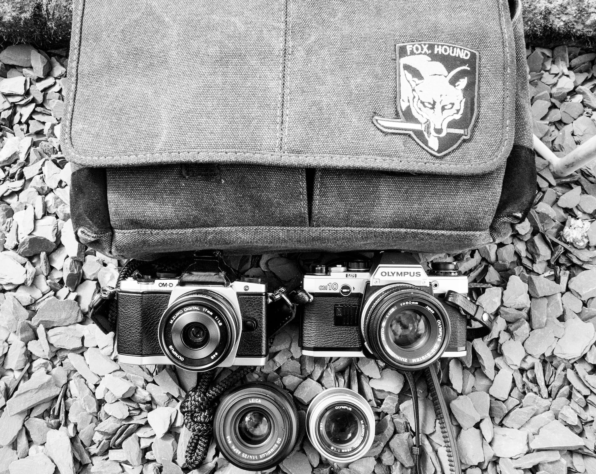 Inside Chris Yeates Camera Bag