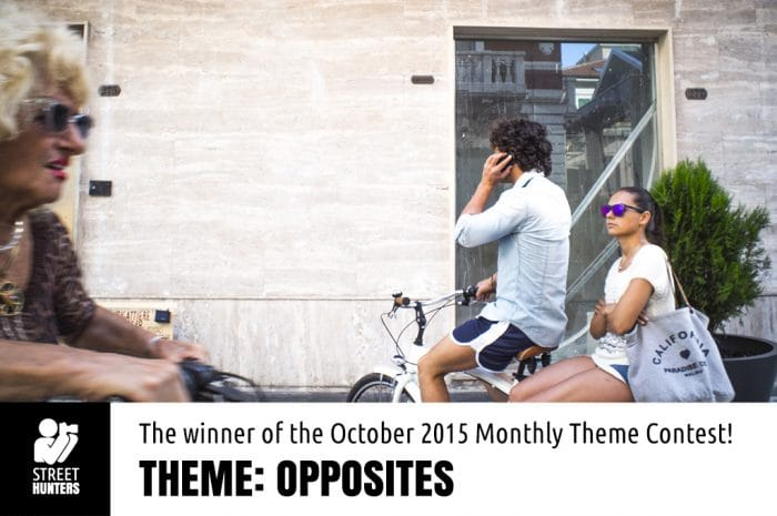 Winning photo of the Opposites Theme Contest