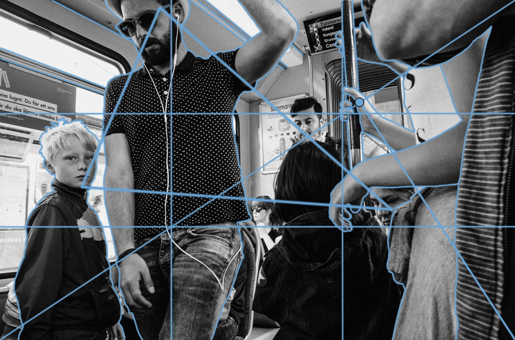 'On The Tram' by Linus Andersson, annotated