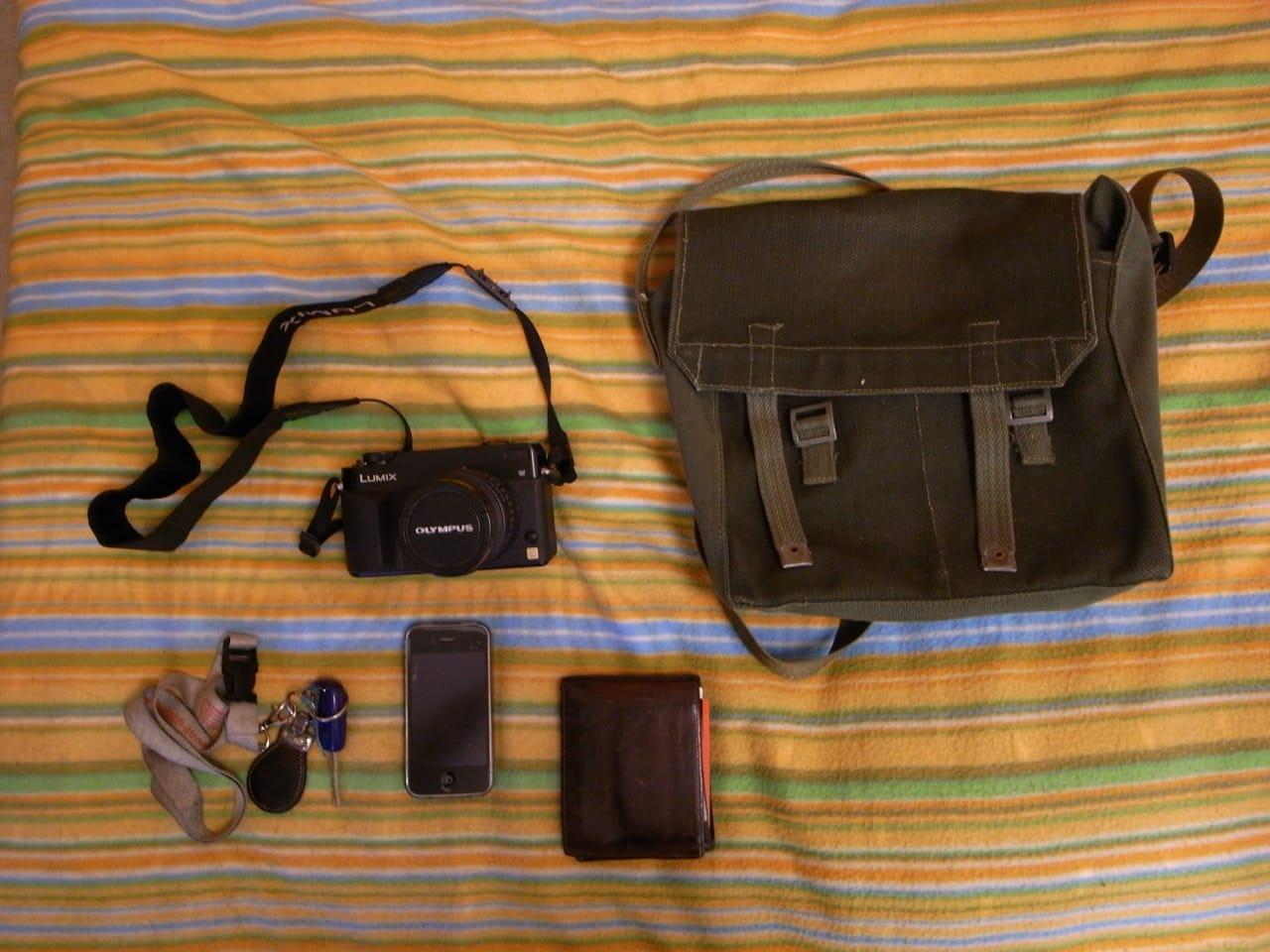 Nuno Brandao's camera bag