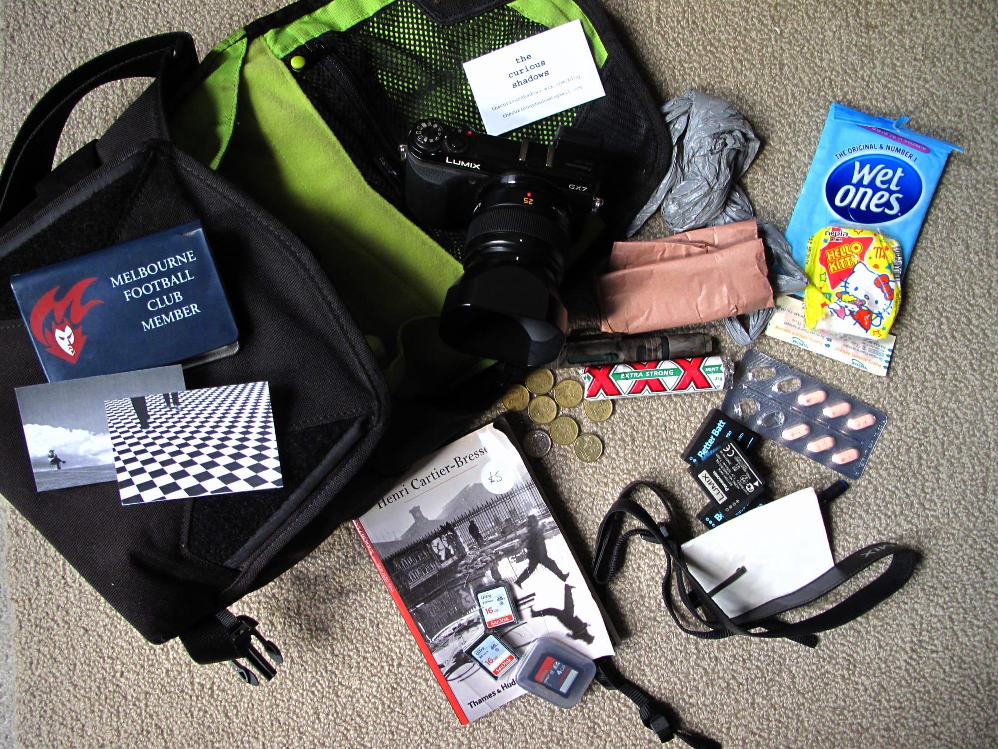 Inside The Curious Shadows' Camera Bag