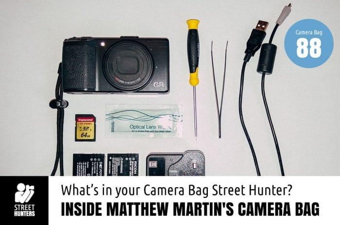 Inside Matthew Martin's Camera Bag