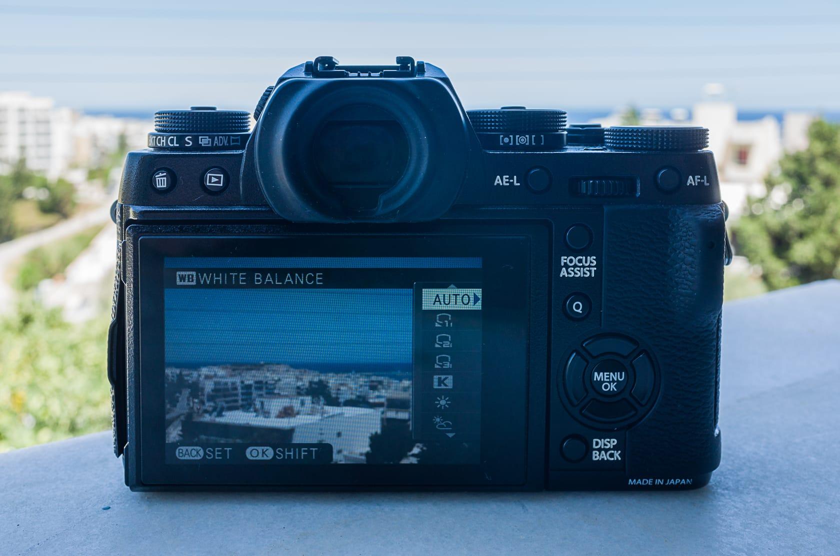 Fujifilm X-T1 LCD screen