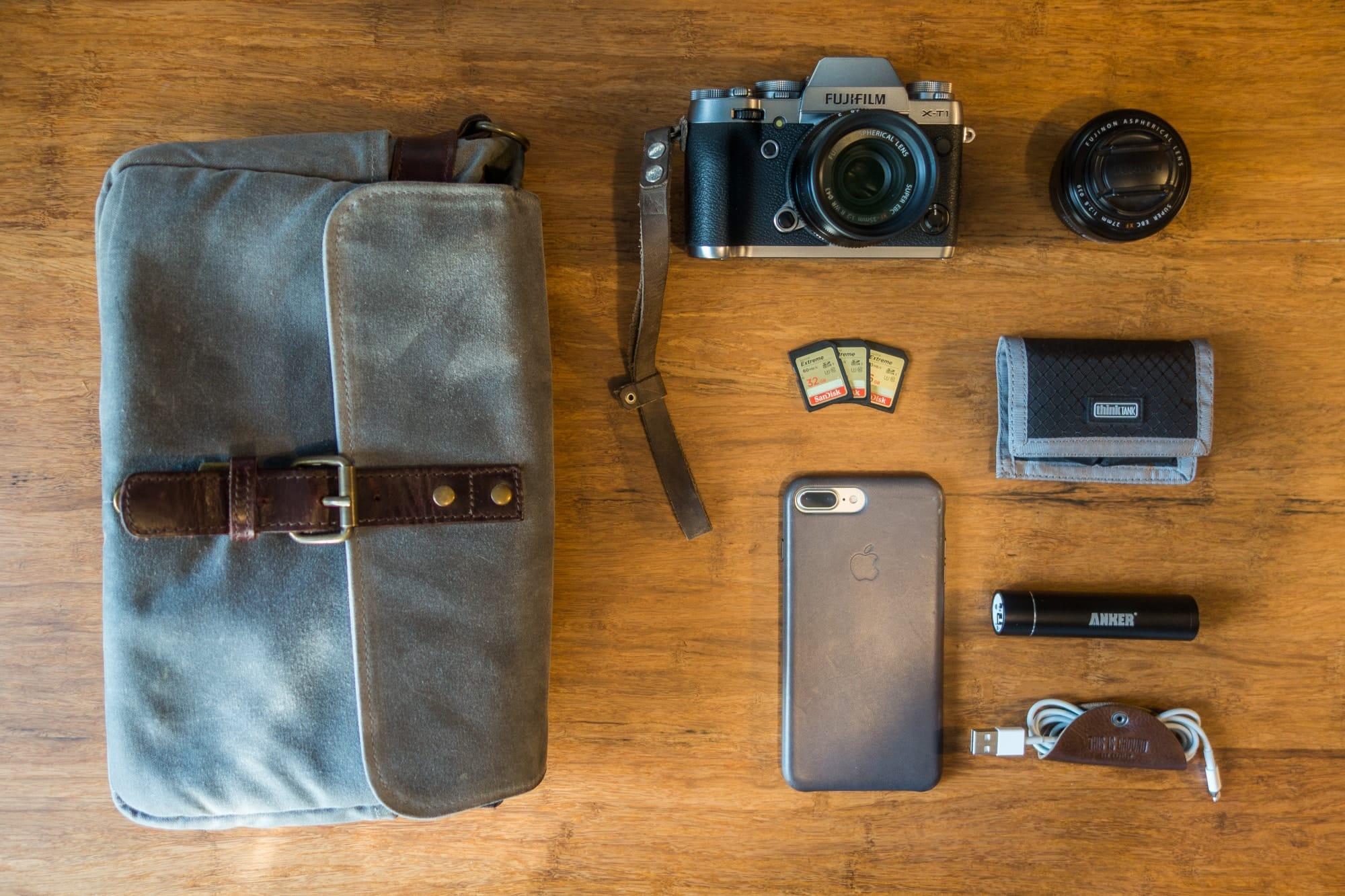 James Lunt's camera bag